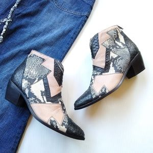 Society Amuse + Matisse • patchwork booties